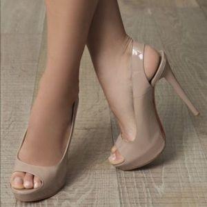 Aldo Patent Peep Toe Slingback High Heels Shoes